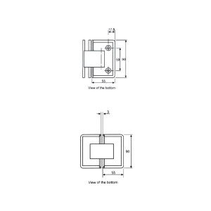 BINGO® SH-04 Brass Shower Hinge - Glass to Wall (90°)
