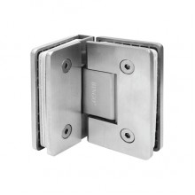 BINGO® SH-201-S Stainless Steel Shower Hinge - Glass to Glass (90°)