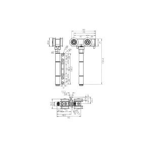 DAL® 844-TR Heavy Duty Folding Door Top Roller with Nylon Wheels