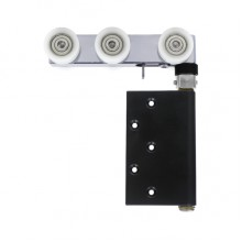 DAL® 95-TR-N Folding Door Top Roller - Concealed with 6 Nylon Wheel