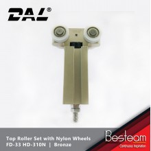 Folding Door Top Roller Set with Nylon Wheels  | DAL® FD-33 HD-310N