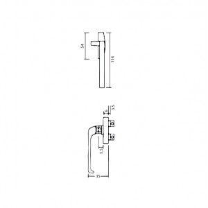 DAL® CW-M5 Casement Handle - Right or Left