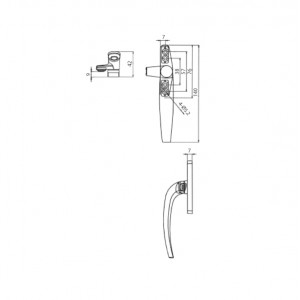 DAL® CW-M7 Casement Handle - Right or Left
