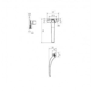 DAL® CW-410 Casement Handle - Right or Left