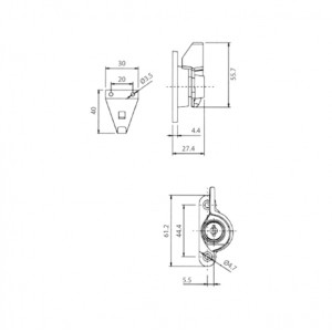 DAL® CL-320 KEY Window Crescent Locks with Key