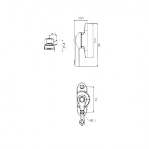 DAL® ML-817 Ambidextrous Window Crescent Locks