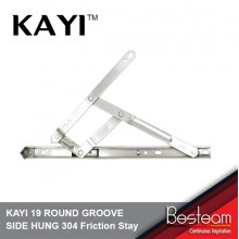KAYI 19 ROUND GROOVE SIDE HUNG 304 Friction Stay