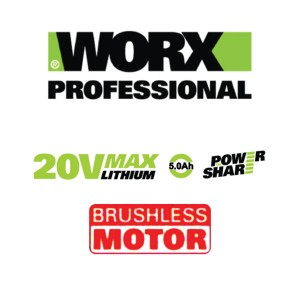 WORX® Professional Series WU278.1 20V MAX Li-ion Brushless Impact Wrench