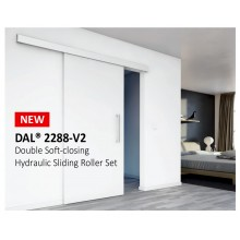 Hydraulic Double Soft Closing Sliding Door System Set with Track and Cover | Timber Door / Aluminum Door | DAL® 2288-v2