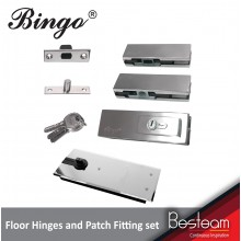 Floor Hinges / Spring / Door closer & Patch Fitting Lock Set for Glass Door | Bingo®