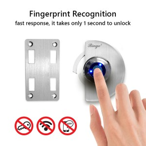Bingo® FL03-A Glass To Wall Smart Fingerprint Glass Door Lock