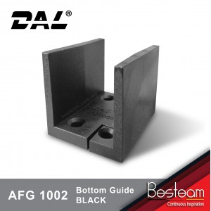 Adjustable Floor/bottom Guide Black / White |  DAL® AFG-1002