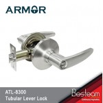 Tubular Lever Door Lock (Entrance) SN Silver |  Armor® ATL-8300