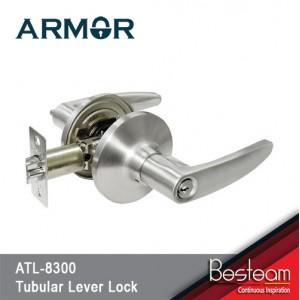 Tubular Lever Door Lock (Entrance) SN Silver |  Armor® ATL-8300