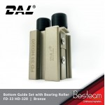 Folding Door Bottom Guide Set with Bearing Rollers top with Nylon  |  DAL® FD-33 HD-320