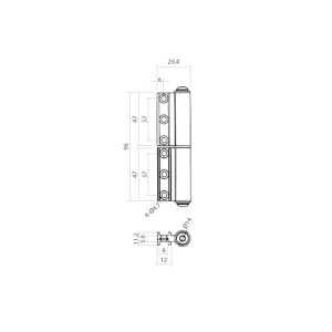 Folding Door Mid Hinge | DAL® 82-MH