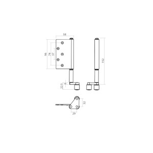 Folding Door Bottom Guide - Concealed Right / Left  | DAL® 89-BG
