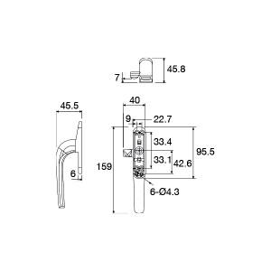 Multi-point Window Handle | DAL® MH-015
