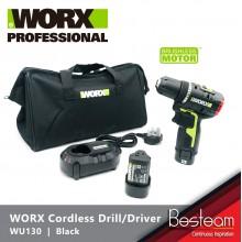 WORX WU130 Cordless Drill/driver 10mm 12V  HIGH EFFICIENCY 1800r/min 30N.m Brushless Motor