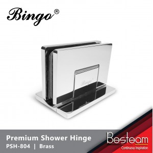 Bathroom Glass Shower Cubicle Premium Shower Hinge screws concealed PSH-804 - Glass to Wall 90° | BINGO®