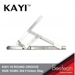 KAYI 19 ROUND GROOVE SIDE HUNG 304 Friction Stay 8 inch/ 12 inch/ 16 inch/ 20 inch