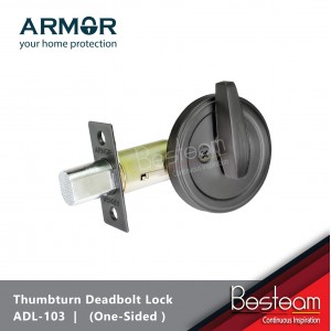 ARMOR® Dead Bolt Door Lock (One Side Thumbturn) Stainless Steel | ADL-103