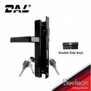 Swing Door Handle Mortise Lock Single/Double Key | DAL® 268 Square Design