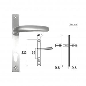 Swing Door Lever Handle Round 228 | DAL