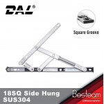 DAL® 18 SQUARE GROOVE SIDE HUNG Friction Stay Stainless Steel SUS304 (Pair)