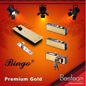 Bingo® Premium Floor Spring Hinges Patches Fitting Series for Glass Door